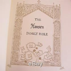 Franklin mint heavy Sterling silver covers family bible King James Version Nice