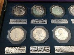 Freemason Brotherhood Masonic. 925 Silver Coins, 10 Coins With Case, Ships Free