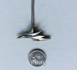Georg Jensen Sterling Silver 925 Franklin Mint Necklace Pendant 1982 Denmark