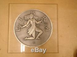 Gilroy Roberts Libra Zodiac. 999 Silver Wall Plaque 51/100 Made Franklin Mint