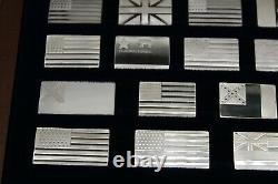 Great Flags Of America Mini-Ingot Collection Franklin Mint Complete Set