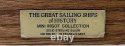 Great Sailing Ships Of History Franklin Mint 50 Bars Sterling Silver Ingot Set