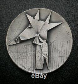 Guatemala 1971 silver medal dagoberto vasquez Medalla conmemorativa
