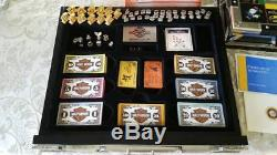HARLEY DAVIDSON FRANKLIN MINT Monopoly Board Game RARE NEW Silver Gold LE 5000