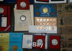 HUGE MIXED LOT COLLECTION COIN PROOF SETS MEDAL S FDCs FRANKLIN MINT SILVER $2
