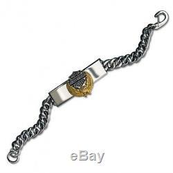 Harley Davidson Men's Eagle Bracelet (Gold Version) by The Franklin Mint