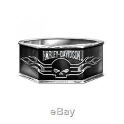 Harley-Davidson Men's Sterling Silver Skull Ring NEW by The Franklin Mint