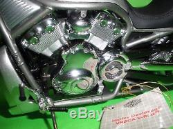 Harley Davidson Silver V-rod Motorcycle Franklin Mint B11b990 New Mib