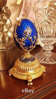 Igor Carl The Faberge Musical Firebird Egg. 925 Sterling Silver Franklin Mint