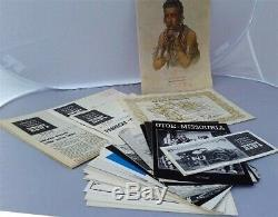 Indian Tribal Series 40 Franklin Mint. 999 Silver Medals Albums Le Signed Books