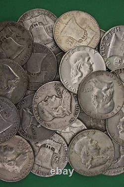 Junk Silver Coins Ben Franklin Half Dollars Halves Half Troy Pound MAKE OFFER