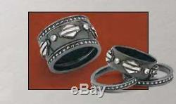 Ladies Spirit of Harley Stacking Ring Silver Version from Franklin Mint SZ 7