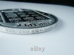 Large Star Trek Silver Medallion, 25th Anniversary, Franklin Mint 1991