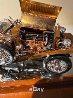 Limited Franklin Mint 1/24 Diecast 1921 Rolls Royce Silver Ghost In Copper