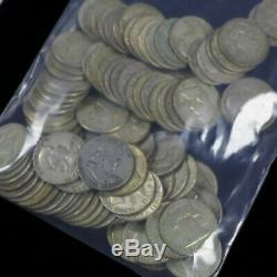 Lot Of (100) $50 Face Franklin Silver Half Dollars Average Circulated