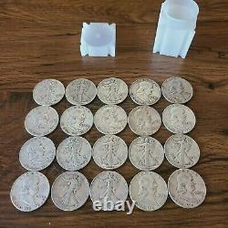 Lot of 20 mixed 90% silver half dollars franklin walking liberty silver bullion