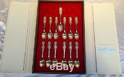 Magnificent Sterling Silver 1973 Franklin Mint Collection Of 13 Apostle Spoons