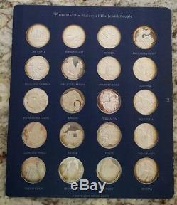 Medallic History of The Jewish People RARE 120 Silver Medals / COA FRANKLIN MINT