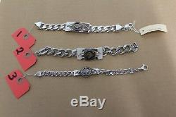 Men's or Women's Franklin Mint Harley Davidson Silver Bracelet 7 1/2