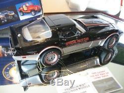 Mib Franklin Mint 1/24 1978 Silver & Black Anniversary Chevy Corvette Pace Car