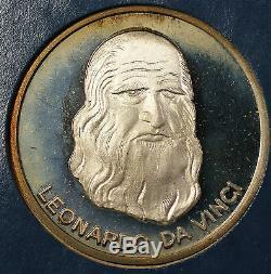 Milestones of Manned Flight Sterling Silver 6 Piece Proof Medal Set Franklin