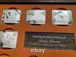 NORMAN ROCKWELL FONDEST MEMORIES 31.25 oz. Of SILVER INGOTS