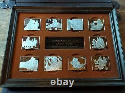 NORMAN ROCKWELL'S 1973 FONDEST MEMORIES 10 INGOTS, 31 TROY oz. Sterling Silver