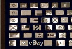 NOS 1975 Franklin Mint THE OFFICIAL FLAGS of the STATES Sterling Silver Bars NEW