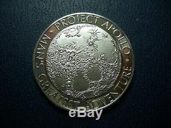 NWA 5000 Lunar Meteorite Apollo 13 Moon Coin SPACE FLOWN SILVER Franklin Mint