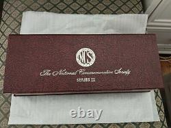 National Commemorative Society Series III Complete Silver 50 Medal Set Proof