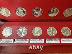 National Commemorative Society Series II & III 100 Sterling Silver Medals Set