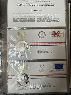 National Governors Conference Official Bicentennial Medals and First Day Covers