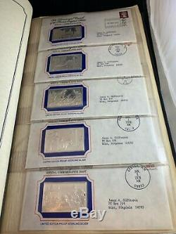 Official Bicentennial Ingots issued by the Franklin Mint. First Edition Proofs