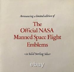 Official NASA Manned Space Flight Emblems Complete Set (25) 500g of 92.5% Silver