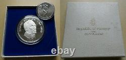 PANAMA 20 Balboas 1974 + 5 Balboas 1970 Set of 2 Silver coins