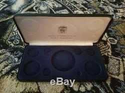 Panama 1975 Franklin Mint Proof Set 3 Silver Coins Presentation Case