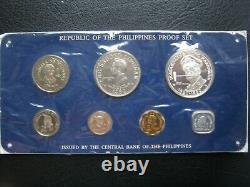 Philippines 1980 Proof Set with Silver 25 Piso Coin by Franklin Mint Sealed Card