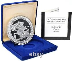 Pistrucci George and The Dragon Silver Proof. 925 350G 90mm Giant Coin CAP + COA