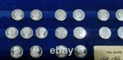 Presidents & First Ladies of the U. S. Franklin Mint Silver Mini Coin Set