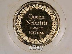 Queen Nefertiti 100 Greatest Masterpieces Franklin mint solid sterling silver