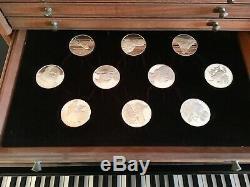 RARE Franklin Mint Leonardo Da Vinci Art Sterling Silver 50oz Coin Collector Set