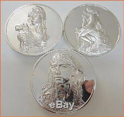 RARE! SILVER ART THE MASTER PIECES OF RODIN FRANKLIN MINT. Only one on Ebay