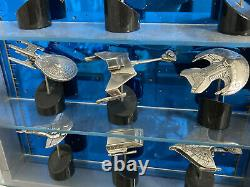Rare 1993 Franklin Mint Star Trek Solid Sterling Silver Starship Collection