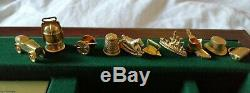 Rare Franklin Mint Monopoly Complete Lovely Condition Gold & Silver Plated Piece