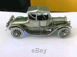 Rare Franklin Mint Sterling Silver Cars (Rolls Royce, Cadillac Coupe, Cabriolet)