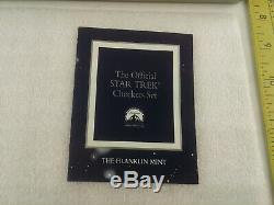 Rare The Official Star Trek Gold & Silver Checkers Set Franklin Mint No Board