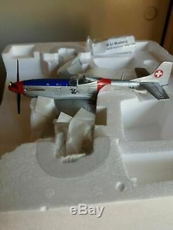 Reduced Franklin Mint Armour 148 NIB Very Rare Swiss Army P-51 Mustang