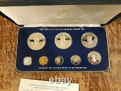 Republic of the Philippines 1975 8-coin proof set in box no COA Franklin Mint