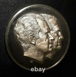 Richard Nixon Spiro Agnew 7 oz Sterling Silver Inauguration Coin Franklin Mint