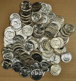 Roll of 20 Different 1948 1962 AU / Slider / Unc & Proof Franklin Half Dollars